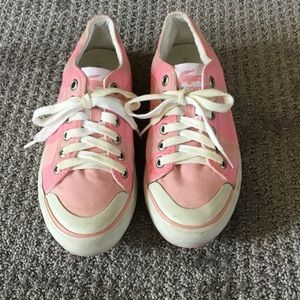 Lacoste pink ked style sneakers Size 7.5